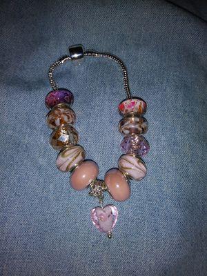 Handmade Ball Joint Snake Chain Charm Bracelet for Sale in Detroit, MI