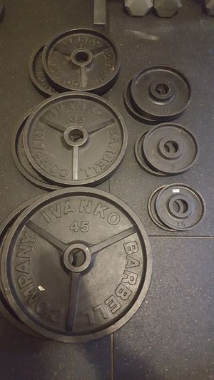 Ivanko barbell plates for Sale in Hillsboro, OR