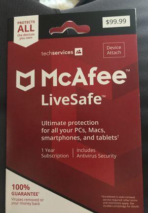 McAfee Livesafe Antivirus subscription for Sale in Denver, CO