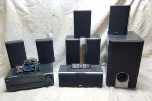 Onkyo AV Digital Tuner + 8 Speaker Surround for Sale in Haddonfield, NJ