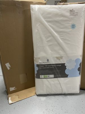 Baby mattress——Naturepedic No Compromise Organic Cotton Classic 150 Seamless Dual Firmness Crib Mattress —BRAND NEW for Sale in Peoria, AZ