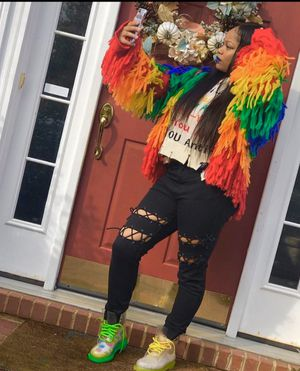 CURRENT MOOD • Rainbow Fringe Sweater for Sale in Oxon Hill, MD