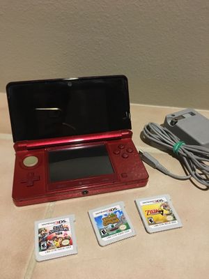 Nintendo flame red original 3ds bundle for Sale in Lynnwood, WA