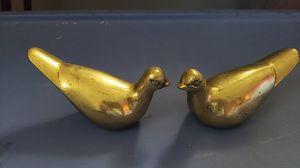Antique brass doves for Sale in Spartanburg, SC