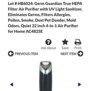 Germ Guardian Quiet 22inch for Sale in Gilbert, AZ