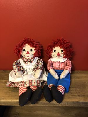 Raggedy Ann and Andy dolls for Sale in Fayetteville, NC