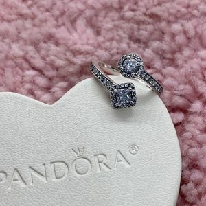 Sparkling Square and Circle Pandora Ring Size 50EU/5US for Sale in Waukegan, IL