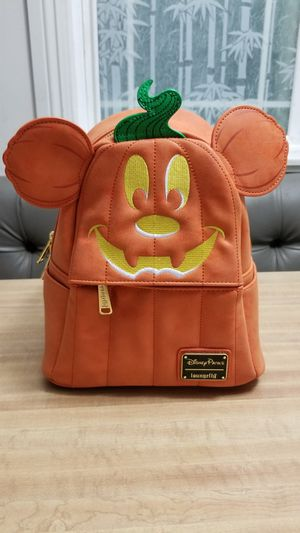 Disney loungefly Mickey mouse pumpkin backpack for Sale in West Covina, CA