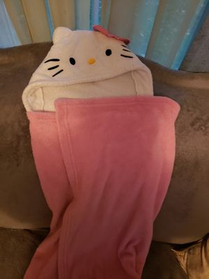 Hello kitty hooded towel/blanket for Sale in North Haven, CT