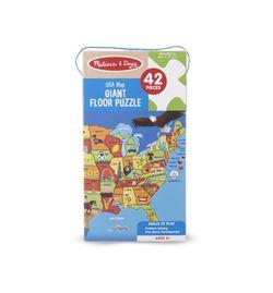 Melissa & Doug USA Map Giant Floor Puzzle, 42 Piece for Sale in Port Hueneme,  CA