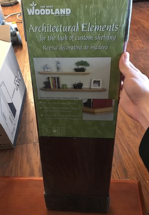 Three 2ft wall shelves brown color for Sale in Portland, OR