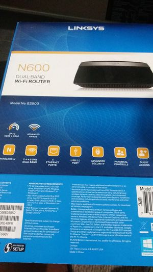 Linksys DUAL BAND WIFI ROUTER for Sale in Tampa, FL