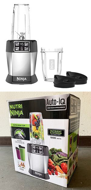 (NEW) $65 NUTRI NINJA Auto-iQ Blender 1000W Motor w/ 18oz and 24oz Cup & Lid for Sale in Whittier, CA