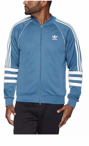 Adidas Track Sweater Jacket Men's Size:L New With Tags DJ2857 Blue & White for Sale in Tennerton, WV