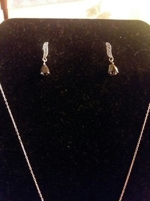 Sterling black onyx necklace and earrings for Sale in Northumberland, PA