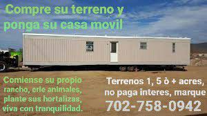Terrenos y casas movil {contact info removed} for Sale in Las Vegas, NV
