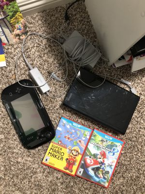 nintendo wii u w/ two games n pad for Sale in Corona, CA