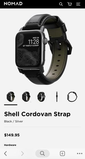 Premium Apple Watch strap nomad horween leather for Sale in Seattle, WA