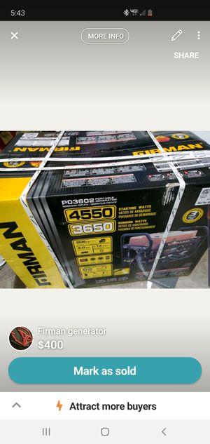 Firman generator brand new for Sale in Albuquerque, NM
