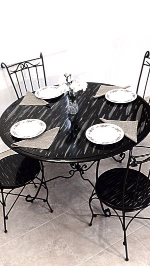 Custom dining table and 4 chairs. MAKE OFFER for Sale in Delray Beach, FL