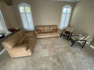 Leather couch, love seat and two leather chairs for Sale in Windermere, FL