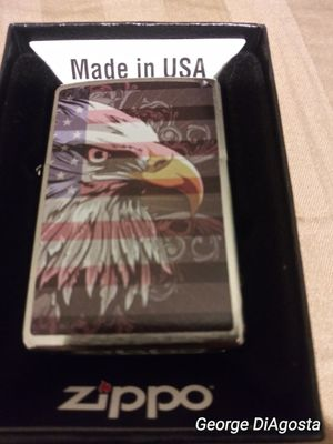 Show everybody that you're proud to be an American with this authentic Zippo lighter part of patriotic series for Sale in Croydon, PA