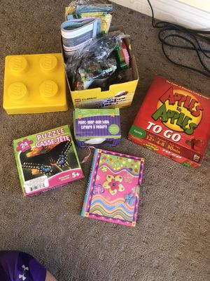 Brand new legos, diary, puzzle, paint your piggy bank and apples and go game $ 10 for Sale in Chula Vista, CA