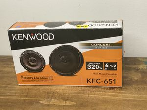 "Kenwood - 6-1/2"" 2-Way Car Speaker - Black Model:KFC-651 for Sale in Orlando, FL"