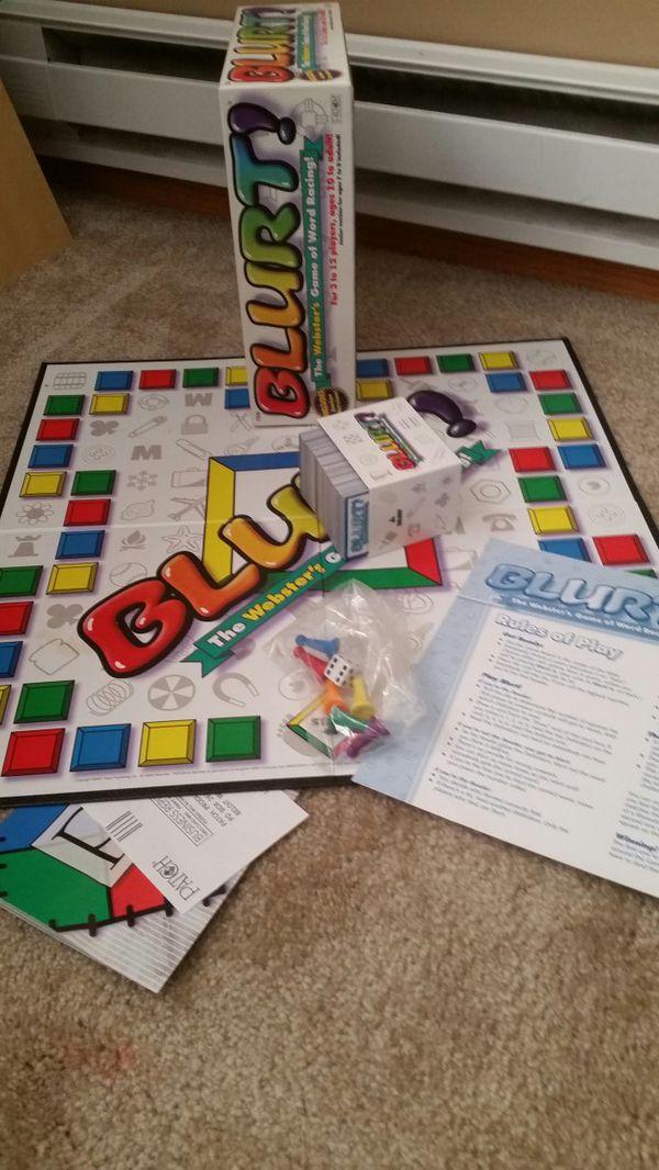 BLURT! Board Game, Like New $3