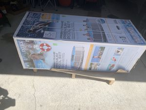 Intex Metal Frame 15 x 48 with ladder and pump for Sale in Grand Rapids, MI