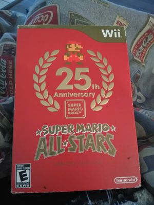 25th Anniversary Super Mario Bro Limited Edition Wii for Sale in CORP CHRISTI, TX