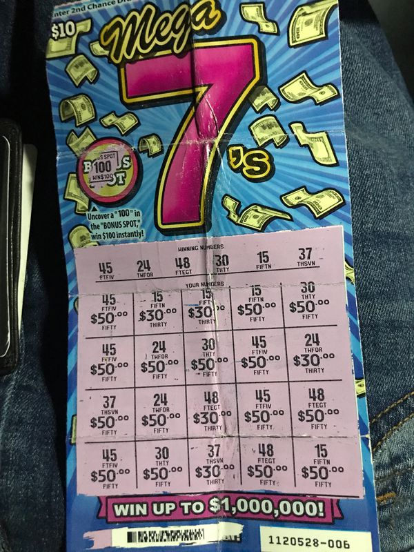 $1000 Winning lottery ticket for 700 cash