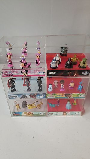 Acrylic display box with collectable toys for Sale in Westminster, CA