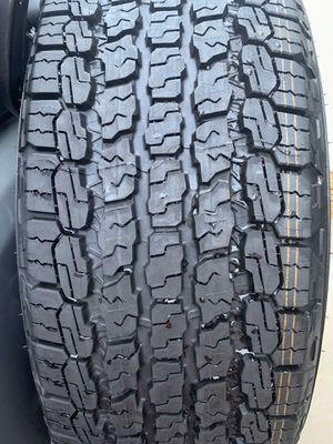 (5) Goodyear KEVLAR wrangler tires 245/75R17 (5) Jeep Wrangler OEM 17 inch wheels $1000.00 for Sale in Gibsonton, FL