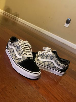 Size 6.5M/8W. Vans x Authentic Gucci Custom sewn sneakers for Sale in Decatur, GA
