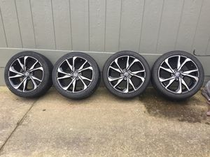 Honda rims tires good conditions 5x114.3 for Sale in Tigard, OR