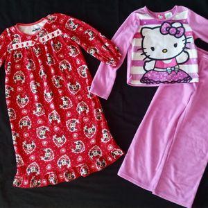 Two Pajamas Disney Minnie Mouse & Hello Kitty size 4 for Sale in Laveen Village, AZ