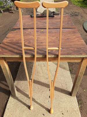 Adjustable crutches wooden for Sale in Washington, DC