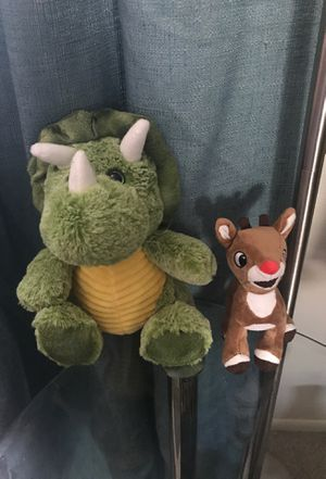 Dinosaur and Rudolph plushys for Sale in Largo, FL