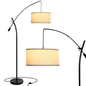 Grayson LED Arc Floor Lamp- Adjustable Hanging Shade - Black for Sale in Chino, CA