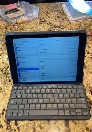 Apple iPad Air 2 32gb Cellular Unlocked Space Gray Keyboard Case for Sale in Chula Vista, CA