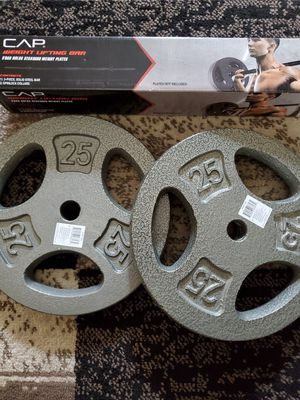 CAP Weight Lifting Bar W/ 2× 25LBS Plate for Sale in Dublin, OH