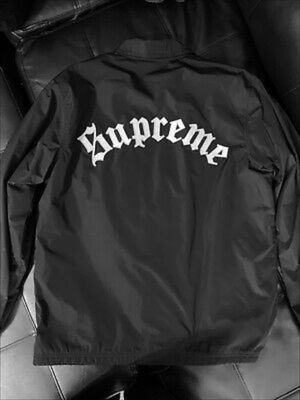 SUPREME Old English Coaches Jacket FW16 Stitched Lettering Sz Large for Sale in Austin, TX