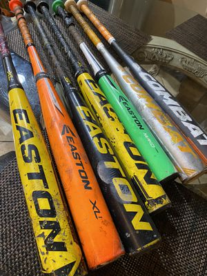 Baseball bats Easton and combat for Sale in El Monte, CA