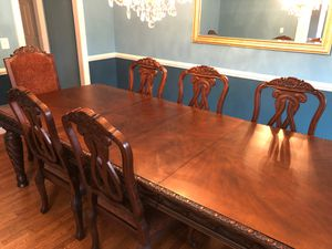 Elegant Dining table with 8 chairs for Sale in Clifton, VA