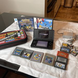 Nintendo DS Lite Console Lot Systems 14 Games W Case & Charger Authentic and tested Super Mario Land 2 Wheel of Fortune 007 the World is not Enough Sp for Sale in Fort Lauderdale, FL