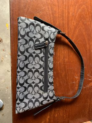 Coach Clutch Purse Black And Grey for Sale in Bethel Park, PA