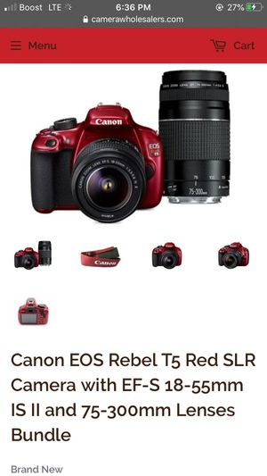 Red Canon Rebel T5 Camera for Sale in Portland, OR