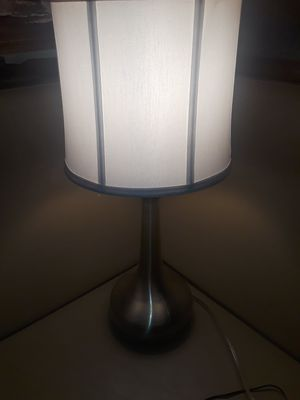 Polished chrome Art Deco Lamp and shade for Sale in Oklahoma City, OK