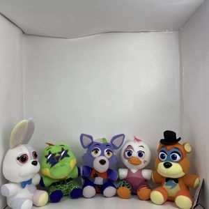 Five Nights at Freddys Security Breach Plush Set of 5 Glamrock Freddy Chica FNAF for Sale in Peoria, IL